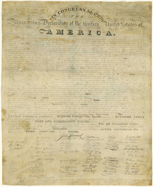 the declaration of independence signatures. The Declaration of
