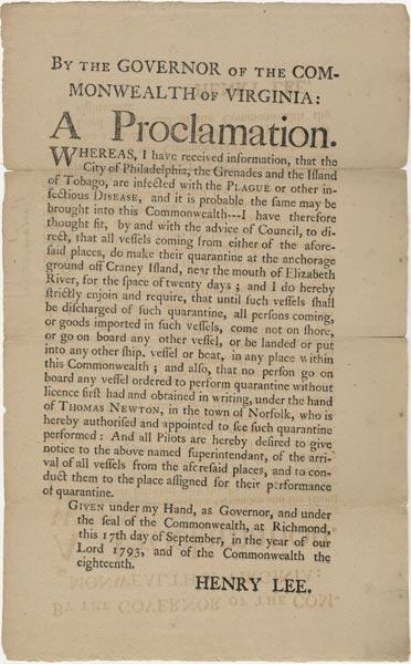 September 17  1793 Yellow Fever 1793 Newspaper