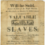 An Advertisement for Slaves
