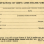 Birth Registration Card