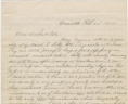 Doe, Charles, Letter, 22 February 1850, Accession 38743, Personal Papers Collection, Library of Virginia, Richmond, Virginia., LVA