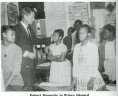 Robert Kennedy in Prince Edward. From <em>Southern School News</em> 10, no. 12 (June 1964):10, Library of Virginia, Richmond, Virginia., LVA