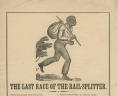 """The Last Race of the Rail-Splitter,"" Broadside, ca. 1861, Broadside, 186- .L34 BOX, Special Collections, Library of Virginia.,"