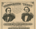 """Democratic ticket: Our Principles, the Constitution.... For President John C. Breckinridge, of Kentucky. For Vice President Joseph Lane of Oregon,"" 1860, Broadside, 1860 .D38 BOX, Special Collections, Library of Virginia.,"