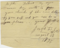 Joseph D. Lee, Note, 13 August 1838. Accession 42684. Personal Papers Collection. The Library of Virginia, Richmond, Virginia., LVA