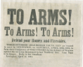 """To Arms! To Arms! To Arms! Defend Your Homes and Firesides,"" 1861, Broadside, 1861 .T62 FF, Special Collections, Library of Virginia.,"