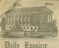 Engravings of Virginia Capitol in <em>Daily Richmond Enquirer</em>, April 17, 20, 26, 1861,