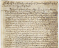 Undated petition of Phillip Gowen to Governor Sir William Berkeley, ca. 1675, Colonial Papers, Folder 19, No. 2, Record Group 1, Library of Virginia, Richmond, Virginia., LVA