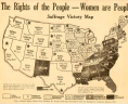 """The Rights of the People—Women are People. Suffrage Victory Map."" 1920. Broadside. Equal Suffrage League of Virginia Papers, Acc. 22002. Library of Virginia, Richmond, Virginia., LVA"
