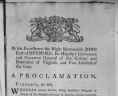 By his Excellency the Right Honourable John Earl of Dunmore. . . A Proclamation. Williamsburg, 1775, Ephemera Collection, Portfolio 178, Folder 13b, Rare Book and Special Collections Division, Library of Congress, Washington, D.C., LOC