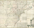 Mitchell, John. A Map of the British and French Dominions in North America with the Roads, Distances, Limits, and Extent of the Settlements, 1755. Archives Research Services Map Collection, G3300 1755 .M52 Voorhees Collection. Library of Virginia., LVA