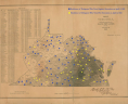 Residences of delegates who voted for and against secession on April 4, 1861, displayed on E. Hergesheimer, <em>Map of Virginia Showing the Distribution of its Slave Population from the Census of 1860</em>, C. B. Graham, Lithographer (Washington, D.C.: Henry S. Graham, 1861), Library of Virginia.,