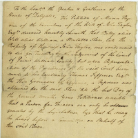Legislative Petitions, Prince William Co., n.d. [Received  June 7, 1781], Record Group 78, Library of Virginia, Richmond, Virginia.