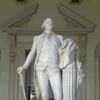 George Washington (1732–1799), Marble Statue by Jean-Antoine Houdon, 1785–1792. State Artwork Collection, Library of Virginia.