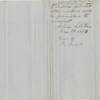 William Breedlove, Pardon Papers, 19 December, 1863, John Letcher Executive Papers, Record Group 3, Accession 36787. Library of Virginia, Richmond, Virginia.