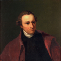 George Bagby Matthews, Patrick Henry, oil painting on canvas, 30 x 50 in. Original by Thomas Sully, Virginia State Artwork Collection: acquired about 1884, Library of Virginia.