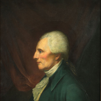 Fletcher, Anne, Richard Henry Lee (1732–1794). Oil painting on canvas, 30 x 25 in., Original by Charles Willson Peale. Virginia State Artwork Collection, Acquired 1927.