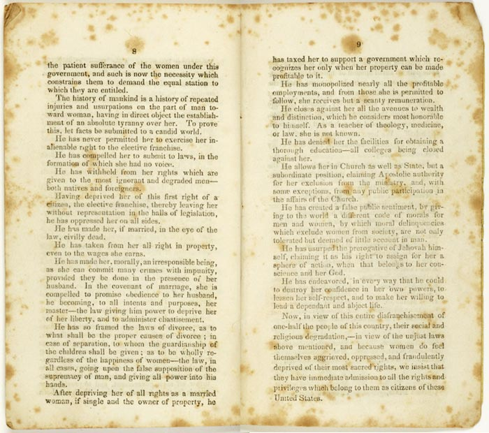 Seneca Falls Declaration of Sentiments 1848