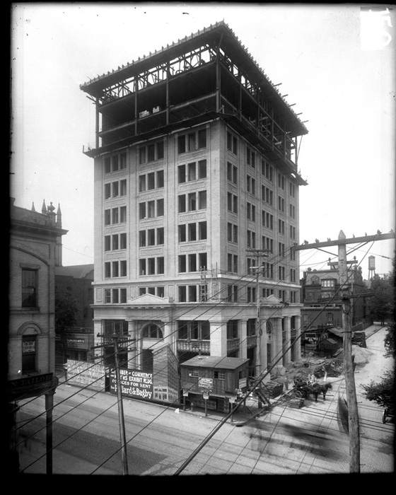 Richmond chamber of commerce building under construction carneal johnston negative collection library of
