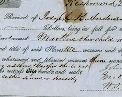 Bill of Sale for Two Slaves, January 25, 1854