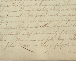 Anna Maria Lane, Revolutionary Pension, January 28, 1808