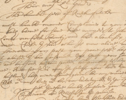 Ruth Fulcher Petition for Support, April 6, 1691