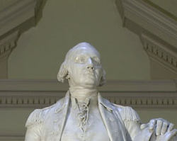 George Washington, marble statue