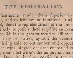 James Madison, Federalist #10, November 22, 1787
