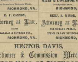 "Hector Davis advertises that he ""Sells Negroes both publicly and privately"""
