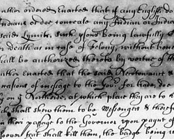 Treaty Between the English and the Powhatan Indians, October 1646