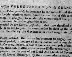 Act for Raising Volunteers to Join the Grand Army, May 1778