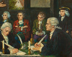 Adoption of the Virginia Declaration of Rights, oil painting