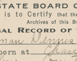 Naturalization Certificate, January 14, 1920