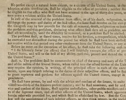United States Constitution, September 17, 1787