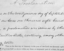 Emancipation Proclamation, January 1, 1863