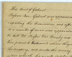 Testimony in the Trial of Gabriel, October 6, 1800