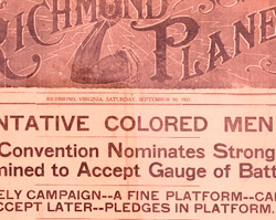 The <em>Richmond Planet</em> Announced John Mitchell's Candidacy for Governor, September 10, 1921