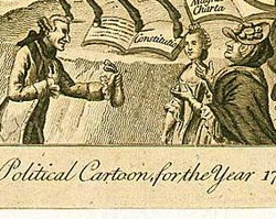 Political Cartoon Criticizing the King, May 1, 1775