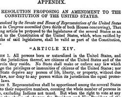 Fourteenth Amendment to the United States Constitution, 1868