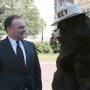 Governor Tim Kaine and Smokey the Bear