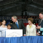 George W. Bush, First Lady Laura Bush, Governor Tim Kaine and Anne Holton