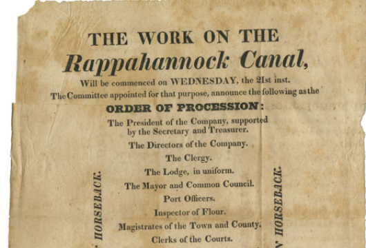 Virginia, Board of Public Works, Rappahannock Company Records, 1816–1858, Accession 30030, Record Group 90, Library of Virginia, Richmond, Virginia.
