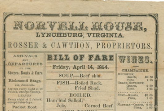Broadside 1854 .N89 BOX, Special Collections, Library of Virginia, Richmond, Virginia.