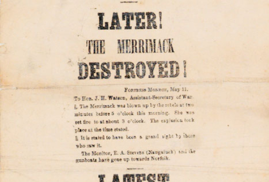 Broadside 1862 .D13 F, Special Collections, Library of Virginia, Richmond, Virginia.