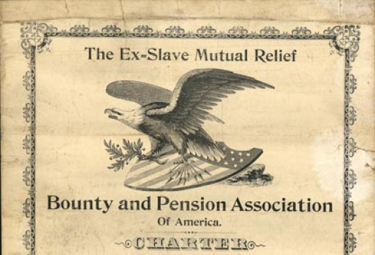 Ex-Slave Mutual Relief Bounty and Pension Association of America, Charter, 18 May 1897, Accession 37678, Organization Records Collection, Library of Virginia, Richmond, Virginia.