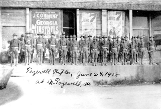 Tazewell Rifles at North Tazewell, 24 June 1918 [graphic], From a Collection of Tazewell County Photographs Housed in the Archives at the Tazewell County Public Library, Computer file: 1999, Library of Virginia, Richmond, Virginia.