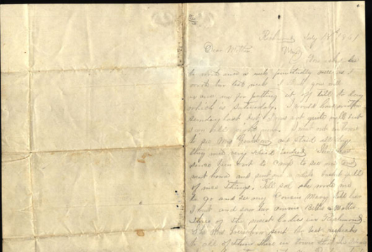 Edward P. Hendree, Letter, 18 July 1861, Accession 42024, Personal Papers Collection, Library of Virginia, Richmond, Virginia.