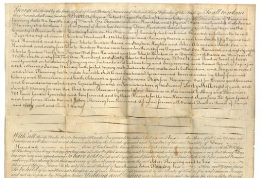 John Fleming, Land Patent, 7 August 1761, Accession 25158, Personal Papers Collection, Library of Virginia, Richmond, Virginia.