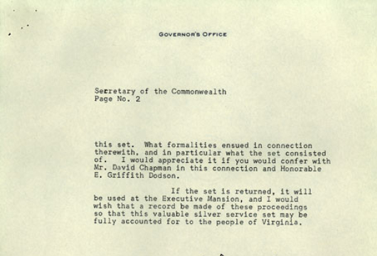 Virginia, Governor (1958 �1962: Almond) Executive Papers, 1958 �1962, Accession 26230, State Government Records Collection, Library of Virginia, Richmond, Virginia.