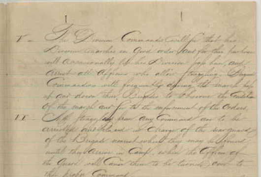 Confederate States of America, Army of Northern Virginia, Valley District, Order, 7 September 1862, Accession 13983, Organization Records Collection, Library of Virginia, Richmond, Virginia.
